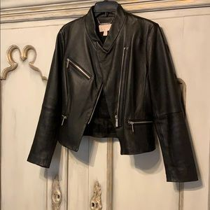 Michael Kors Black Leather Moto Jacket